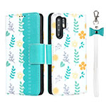 Leather Case Stands Flip Cover T15 Holder for Huawei P30 Pro Cyan