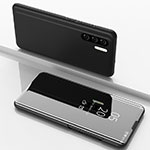 Leather Case Stands Flip Mirror Cover Holder for Huawei P30 Pro Black