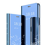 Leather Case Stands Flip Mirror Cover Holder for Xiaomi Mi 6X Blue