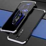 Luxury Aluminum Metal Cover Case for Xiaomi Redmi K30 5G Silver and Black