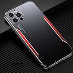 Luxury Aluminum Metal Cover Case T01 for Apple iPhone 12 Pro Red