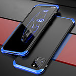 Luxury Aluminum Metal Cover Case T02 for Apple iPhone 12 Pro Blue and Black
