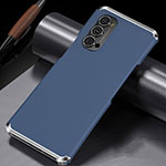 Luxury Aluminum Metal Cover Case T02 for Oppo Reno4 Pro 5G Blue
