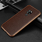 Luxury Aluminum Metal Cover Case T04 for Huawei Mate 20 Brown