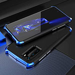 Luxury Aluminum Metal Cover Case T05 for Huawei P40 Pro Blue