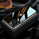 Luxury Aluminum Metal Frame Cover Case for Apple iPhone 12 Pro Gold
