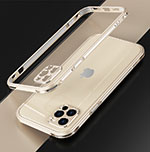 Luxury Aluminum Metal Frame Cover Case N01 for Apple iPhone 12 Pro Gold