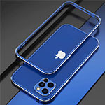 Luxury Aluminum Metal Frame Cover Case N02 for Apple iPhone 12 Pro Blue