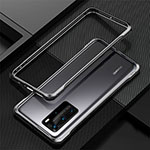 Luxury Aluminum Metal Frame Cover Case T01 for Huawei P40 Pro Black