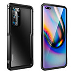 Luxury Aluminum Metal Frame Cover Case T03 for Huawei P40 Pro Black