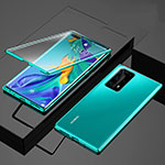 Luxury Aluminum Metal Frame Mirror Cover Case 360 Degrees for Huawei P40 Pro+ Plus Green