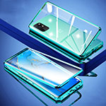 Luxury Aluminum Metal Frame Mirror Cover Case 360 Degrees for OnePlus 8T 5G Green
