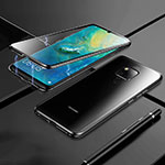 Luxury Aluminum Metal Frame Mirror Cover Case 360 Degrees M02 for Huawei Mate 20 Black