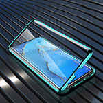 Luxury Aluminum Metal Frame Mirror Cover Case 360 Degrees M02 for Oppo Find X2 Neo Green