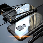 Luxury Aluminum Metal Frame Mirror Cover Case 360 Degrees M03 for Huawei Mate 20 Black