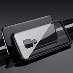 Luxury Aluminum Metal Frame Mirror Cover Case 360 Degrees T01 for Huawei Mate 20 Black