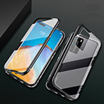Luxury Aluminum Metal Frame Mirror Cover Case 360 Degrees T02 for Huawei P40 Pro Black