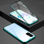Luxury Aluminum Metal Frame Mirror Cover Case 360 Degrees T02 for Samsung Galaxy S20 Plus 5G Green