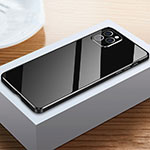 Luxury Aluminum Metal Frame Mirror Cover Case 360 Degrees T03 for Apple iPhone 12 Pro Black
