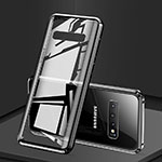 Luxury Aluminum Metal Frame Mirror Cover Case 360 Degrees T03 for Samsung Galaxy S10 Black