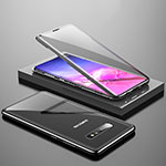 Luxury Aluminum Metal Frame Mirror Cover Case 360 Degrees T04 for Samsung Galaxy S10 Black
