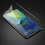 Luxury Aluminum Metal Frame Mirror Cover Case 360 Degrees T05 for Huawei Mate 20 Black