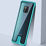 Luxury Aluminum Metal Frame Mirror Cover Case 360 Degrees T05 for Huawei Mate 20 Pro Green