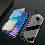 Luxury Aluminum Metal Frame Mirror Cover Case 360 Degrees T09 for Huawei Mate 20 Pro Black