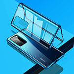 Luxury Aluminum Metal Frame Mirror Cover Case 360 Degrees T09 for Huawei P40 Pro Blue