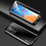Luxury Aluminum Metal Frame Mirror Cover Case 360 Degrees T10 for Huawei P40 Pro Black