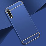 Luxury Metal Frame and Plastic Back Cover Case M01 for Huawei Enjoy 10S Blue