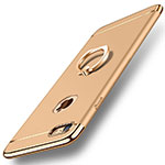 Luxury Metal Frame and Plastic Back Cover with Finger Ring Stand A01 for Apple iPhone SE (2020) Gold
