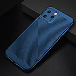 Mesh Hole Hard Rigid Snap On Case Cover for Apple iPhone 11 Pro Max Blue
