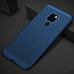 Mesh Hole Hard Rigid Snap On Case Cover for Huawei Mate 20 Blue