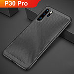 Mesh Hole Hard Rigid Snap On Case Cover for Huawei P30 Pro Black