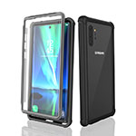 Silicone and Plastic Waterproof Cover Case 360 Degrees Underwater Shell for Samsung Galaxy Note 10 Plus 5G Black