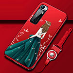 Silicone Candy Rubber Gel Dress Party Girl Soft Case Cover for Xiaomi Mi 10 Ultra Green