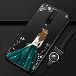 Silicone Candy Rubber Gel Dress Party Girl Soft Case Cover for Xiaomi Redmi K30 5G Green