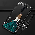 Silicone Candy Rubber Gel Dress Party Girl Soft Case Cover for Xiaomi Redmi Note 8 Pro Black