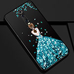 Silicone Candy Rubber Gel Dress Party Girl Soft Case Cover K01 for Xiaomi Mi 9T Pro Blue