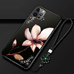 Silicone Candy Rubber Gel Flowers Soft Case Cover for Apple iPhone 12 Pro Brown