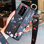 Silicone Candy Rubber Gel Flowers Soft Case Cover for Huawei P40 Pro Red