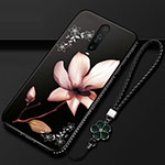 Silicone Candy Rubber Gel Flowers Soft Case Cover for Xiaomi Redmi K30 5G Brown