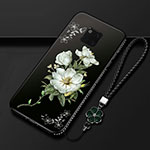Silicone Candy Rubber Gel Flowers Soft Case Cover K01 for Huawei Mate 20 Pro Black