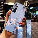 Silicone Candy Rubber Gel Flowers Soft Case Cover S01 for Xiaomi Mi 10 Ultra Mint Blue