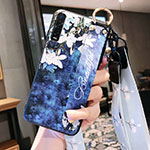 Silicone Candy Rubber Gel Flowers Soft Case Cover S02 for Oppo Find X2 Pro Blue
