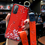 Silicone Candy Rubber Gel Flowers Soft Case Cover S02 for Oppo Reno4 Pro 5G Red
