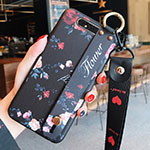 Silicone Candy Rubber Gel Flowers Soft Case Cover S07 for Samsung Galaxy A80 Black