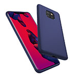 Silicone Candy Rubber Gel Twill Soft Case for Huawei Mate 20 Pro Blue