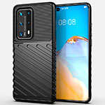 Silicone Candy Rubber TPU Line Soft Case Cover C01 for Huawei P40 Pro+ Plus Black